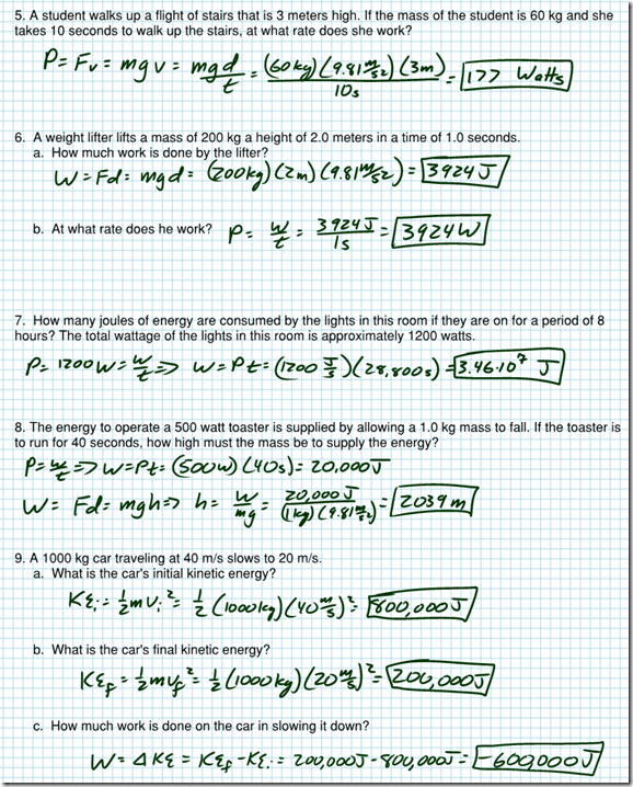 regents work energy power review regents physics image