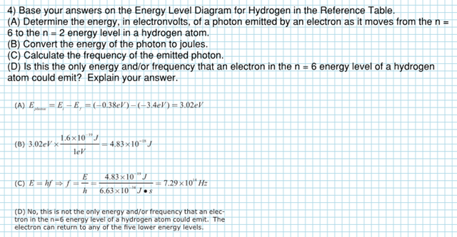 Energy Level Diagram Practice