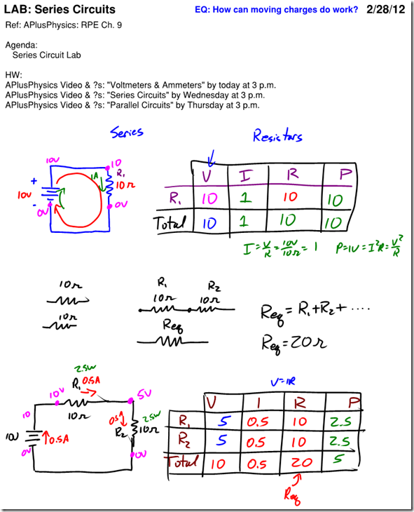 VIRP Table Archives Regents Physics – Series Circuit Worksheet