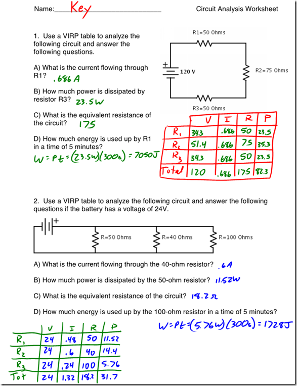 Electrical Circuits Problems And Solutions