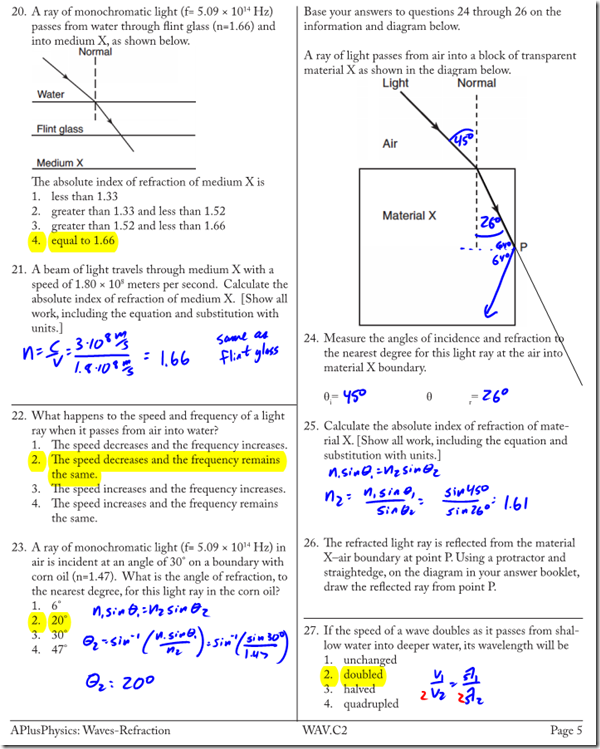 Snell S Law Archives Page 2 Of 3 Regents Physics