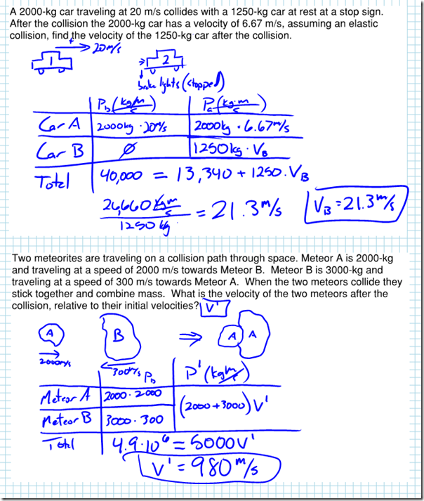 Worksheet conservation of momentum chapter 8 share the knownledge