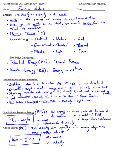 Introduction To Energy Energy Types And Examples Of Energy