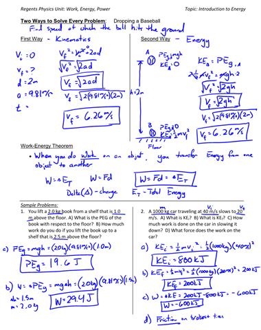 Work-Energy Theorem – key concepts | Physics Lens
