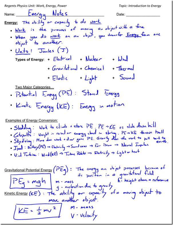 Printables Potential And Kinetic Energy Worksheet potential and kinetic energy worksheet precommunity printables worksheets conversions energy