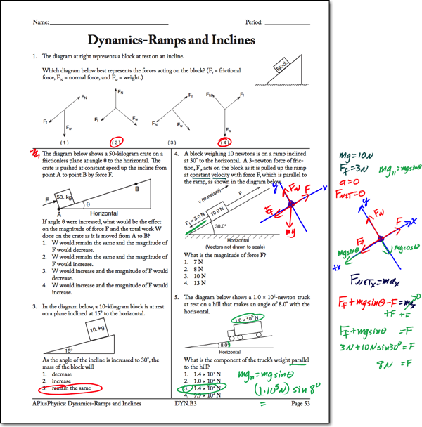 Dynamics Friction Worksheet Answers Nidecmege