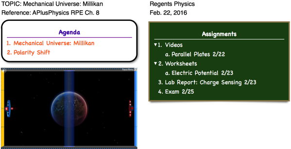 Millikan Archives Regents Physics – Mechanical Universe Worksheets